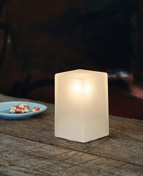 dimmbare tischlampe aus glas. Black Bedroom Furniture Sets. Home Design Ideas