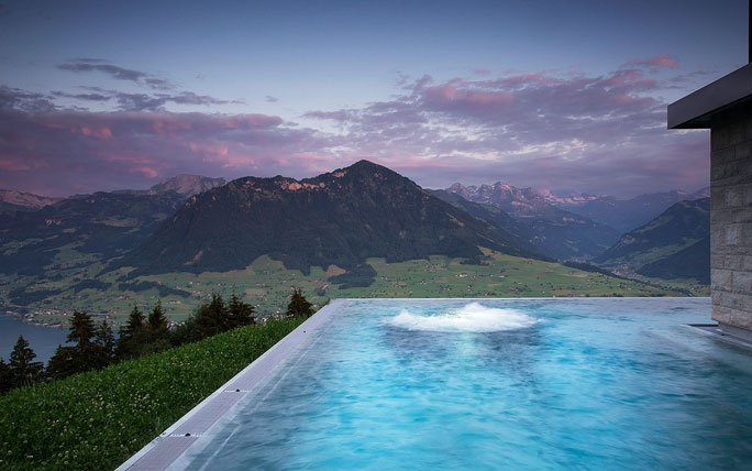 infinity pool im herzen der schweiz villa honegg b rgenstock. Black Bedroom Furniture Sets. Home Design Ideas