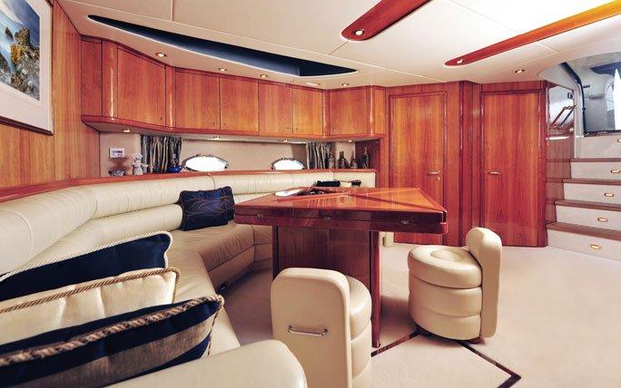 Innenausstattung Einer Luxus Yacht