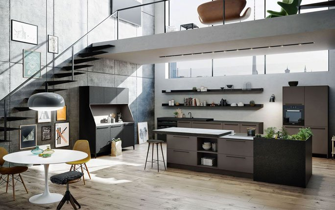 Hocker für kücheninsel: eine schicke moderne residenz in sea e ...