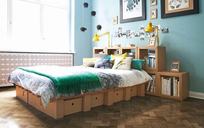 kartonbett von stange design. Black Bedroom Furniture Sets. Home Design Ideas