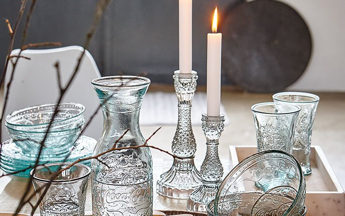 herbstdeko tipps koloniale kerzenhalter aus glas. Black Bedroom Furniture Sets. Home Design Ideas