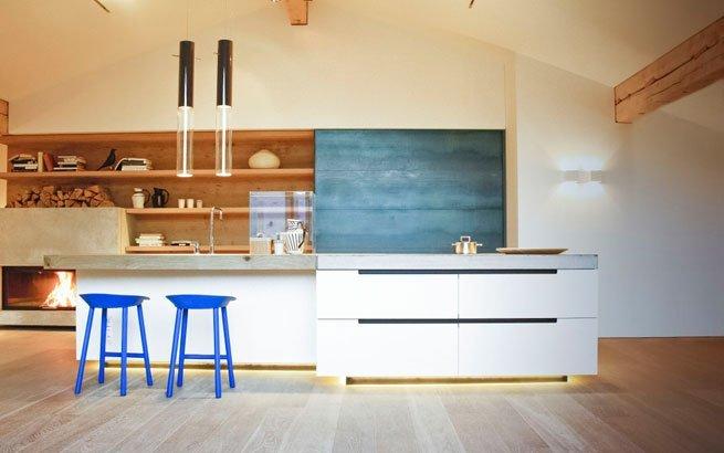 Die offene Küche als Herzstück der Wohnung