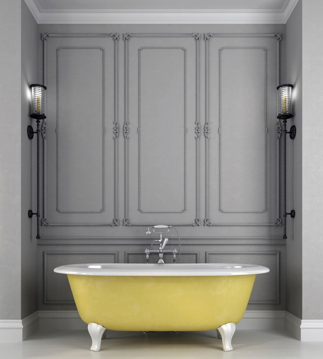 franz sisch einrichten im bad badewanne mit klassischen l wenf ssen. Black Bedroom Furniture Sets. Home Design Ideas