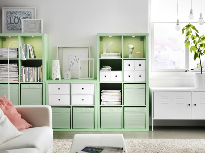 regal kallax mint von ikea. Black Bedroom Furniture Sets. Home Design Ideas