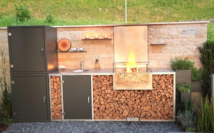 outdoor k che die sch nsten modelle f r aussenk chen. Black Bedroom Furniture Sets. Home Design Ideas