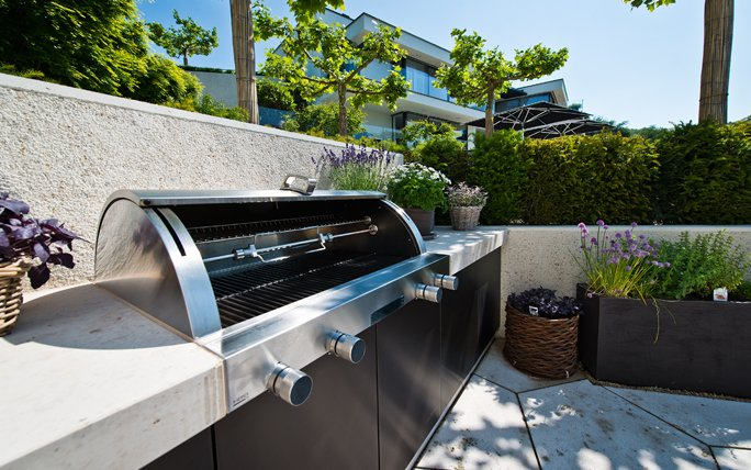 Outdoor Küche Für Den Garten : Anbieter von outdoor küchen: hauser living