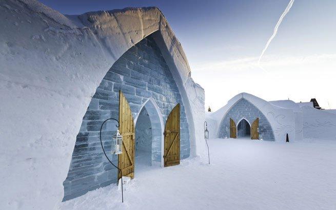 eishotel htel de glace in kanada eingangsbereich 2011
