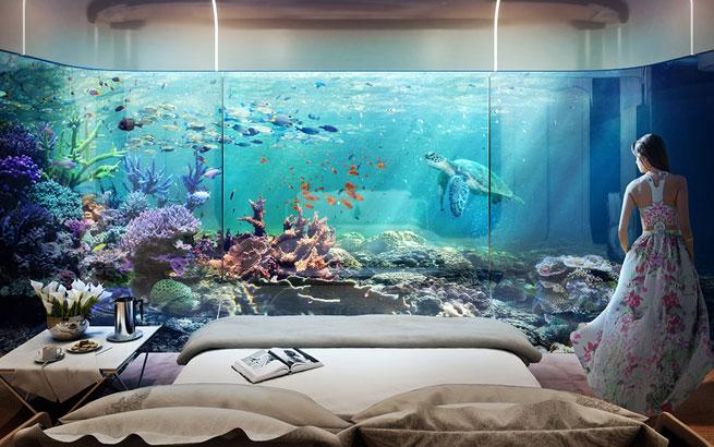 Floating seahorse projekt unterwasser hotels in dubai for Le marde hotel