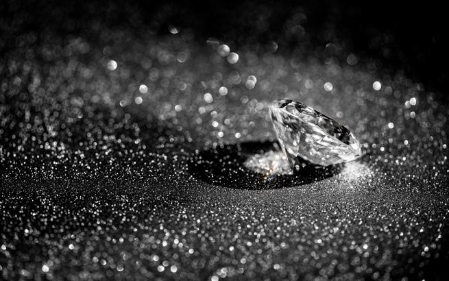 Charakteristisch für den Diamant: der Brillantschliff mit 32 Facetten