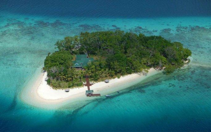 Castaway Island im Südpazifik