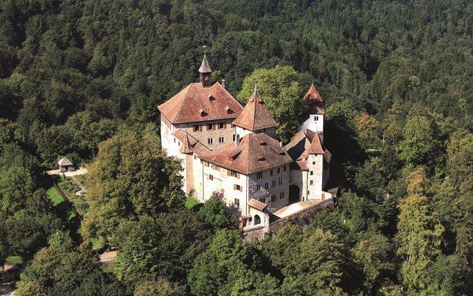 Panoramablick im Schloss Kyburg