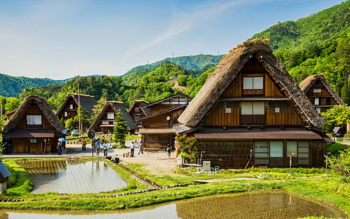 Märchenhafte Orte: Shirakawa-gō in Japan