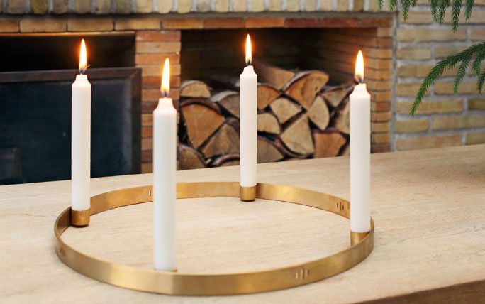 Adventskranz modern interpretiert: Circle