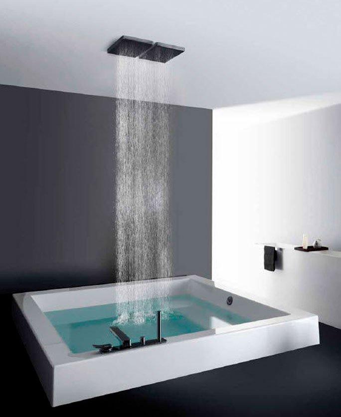 badewanne mit decken regendusche. Black Bedroom Furniture Sets. Home Design Ideas