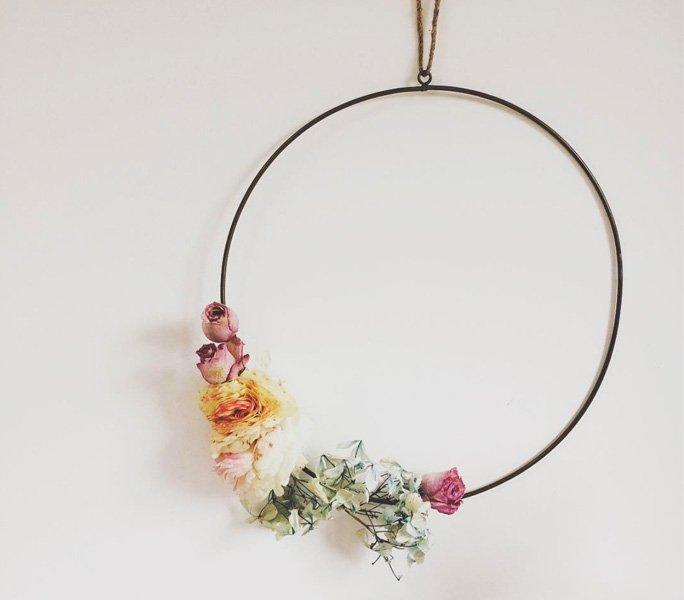 Blumenrahmen statt Bilderrahmen