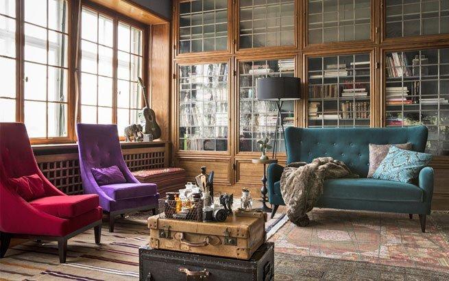 modernes interieur eklektischer einrichtungsstil stilmix. Black Bedroom Furniture Sets. Home Design Ideas