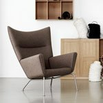 lesesessel in zartrosa von fritz hansen. Black Bedroom Furniture Sets. Home Design Ideas