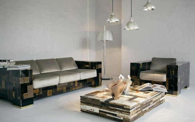Designerm bel wohnzimmereinrichtung von piet hein eek for Komplette wohnzimmereinrichtung
