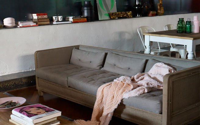 Vintage Wohnzimmer Einrichtung Mit Alten Möbeln Und Modernen Accessoires