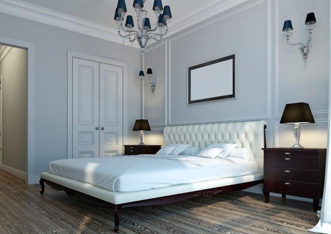 Französisch Einrichten Schwarz Weisses Schlafzimmer