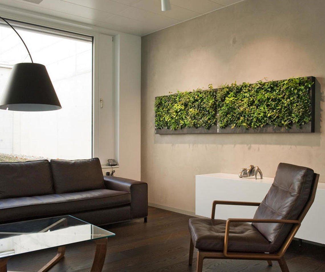 natur pur im haus dank gr ner wand. Black Bedroom Furniture Sets. Home Design Ideas